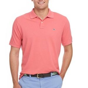 Men's Vineyard Vines Polo in Pink Salmon
